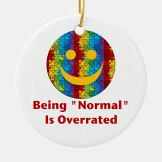 Normales überbewertetes (Rot/Autismus) Keramik Ornament