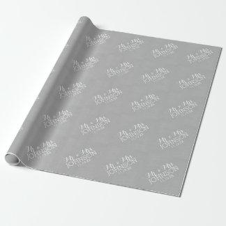 Normallack-Silber - Herr u. Frau Gastgeschenke Geschenkpapier