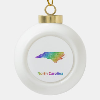 North Carolina Keramik Kugel-Ornament