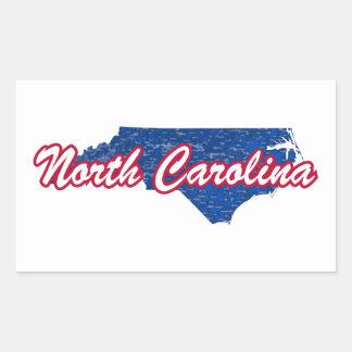 North Carolina Rechteckiger Aufkleber