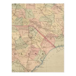 North Carolina und South Carolina Postkarte