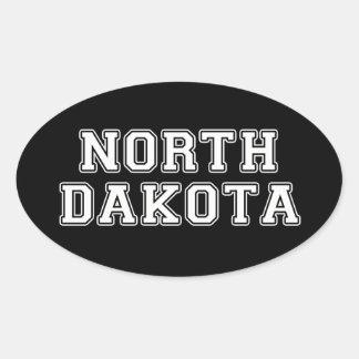 North Dakota Ovaler Aufkleber