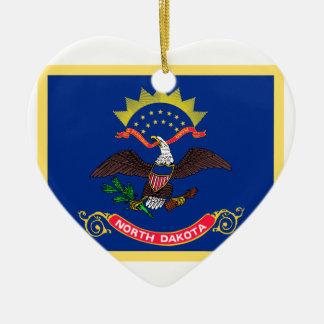 North- Dakotaflagge Keramik Ornament