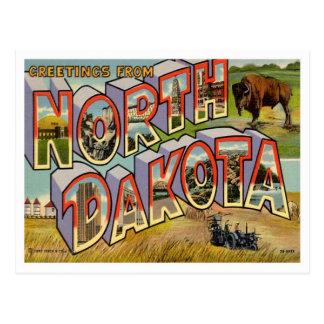 North- Dakotagrüße von US-Staaten Postkarten