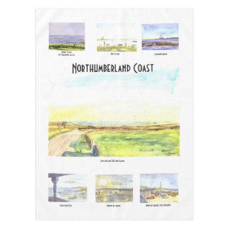Northumberland-Küsten-Tischdecke Tischdecke