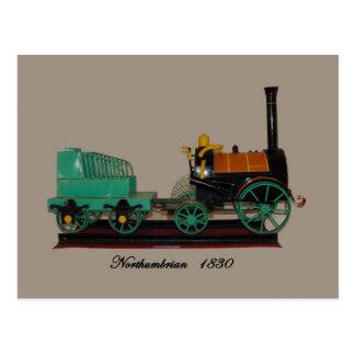 Northumbrian Dampflokomotivfarbe Postkarte