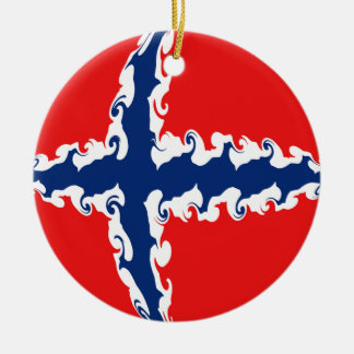 Norway Gnarly Flag Ornaments