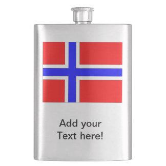 Norwegen-Flagge Flachmann