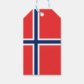 Norwegen-Flagge Geschenkanhänger