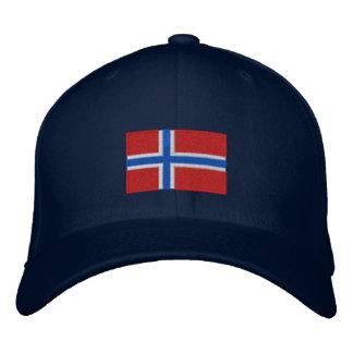 Norwegen Flagge gestickter flexfit Wollehut Bestickte Baseballcaps
