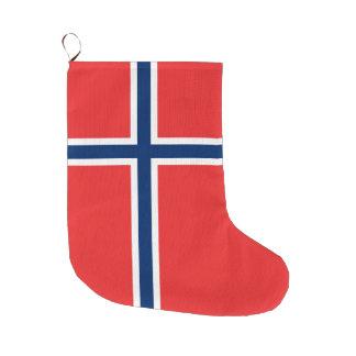 Norwegen-Flagge Großer Weihnachtsstrumpf