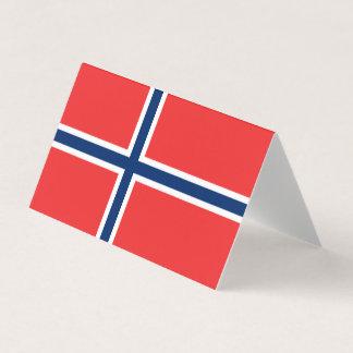 Norwegen-Flagge Platzkarte