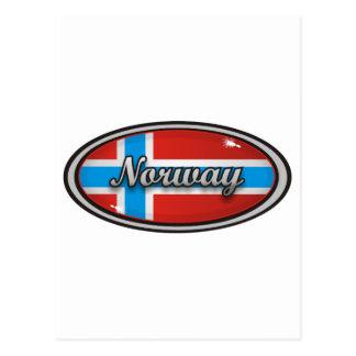 Norwegen-Flagge Postkarte