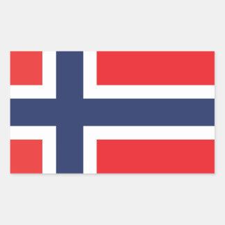 NORWEGEN-FLAGGE RECHTECKIGER AUFKLEBER