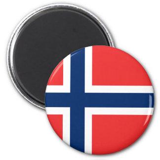 Norwegen-Flagge Runder Magnet 5,7 Cm