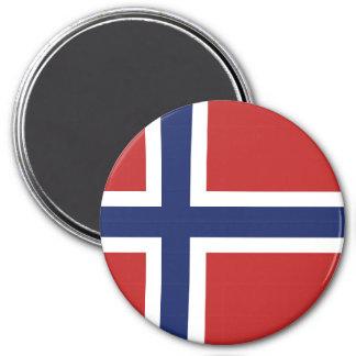 Norwegen-Flagge Runder Magnet 7,6 Cm