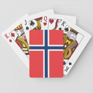 Norwegen-Flagge Spielkarten