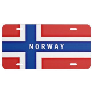 Norwegen-Flagge US Nummernschild