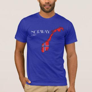Norwegen-Flaggen-Karten-Shirt T-Shirt