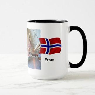 """Norwegen """"Fram"""", die Boote des Schiffs, Fram Tasse"""