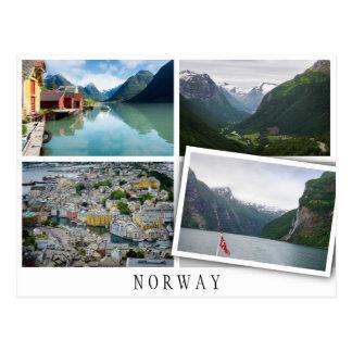 Norwegen gestaltet Collage mit losem Bild Postkarte