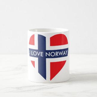 NORWEGEN-HERZ-FORM-FLAGGE TASSE
