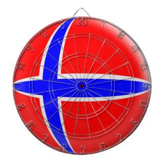 Norwegen-Norweger-Flagge Dartscheibe