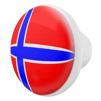 Norwegen-Norweger-Flagge Keramikknauf