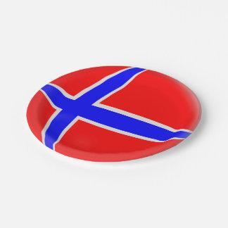 Norwegen-Norweger-Flagge Pappteller