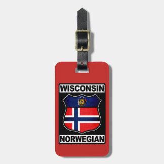 Norwegische amerikanische Gepäckanhänger-Schablone Kofferanhänger
