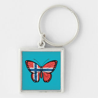 Norwegische Schmetterlings-Flagge Schlüsselanhänger