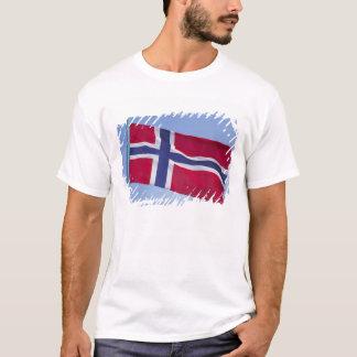 Norwegischer Flagge Rf) T-Shirt