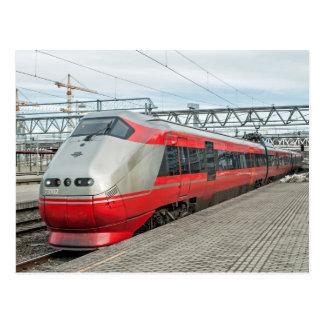 Norwegischer Zug kommt in Oslo S an Postkarte