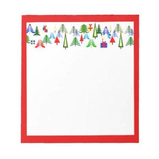 Notizblock mit Weihnachtsbaum-Titel