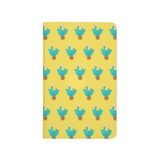Notizbuch mit Muster (blauer Kaktus)