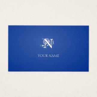Nouveau dunkelblaues Goldenes Visitenkarten