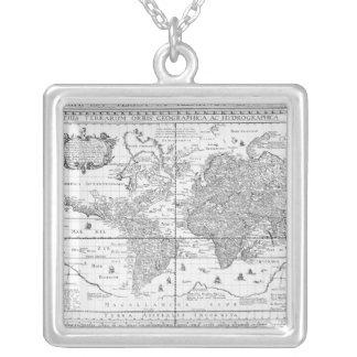 Nova Totius Terrarum Orbis Halskette Mit Quadratischem Anhänger