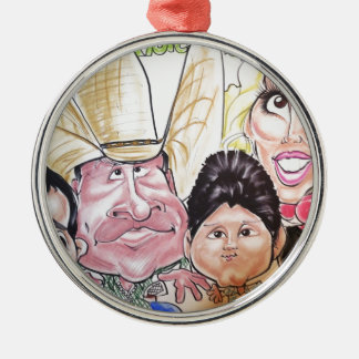 November 2012 Staats-angemessene Rundes Silberfarbenes Ornament