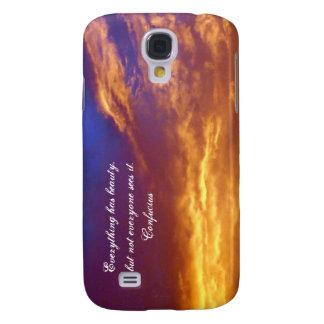 November Feuer-mit Konfuzius-Zitat Galaxy S4 Hülle