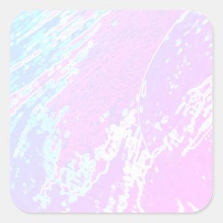 NOVINO quadratische Aufkleber-Schablone - Wellen Quadratischer Aufkleber