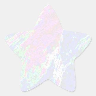 NOVINO Stern-Schablone - Wellen Stern-Aufkleber