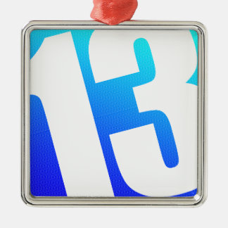 Nr. 13 quadratisches silberfarbenes ornament