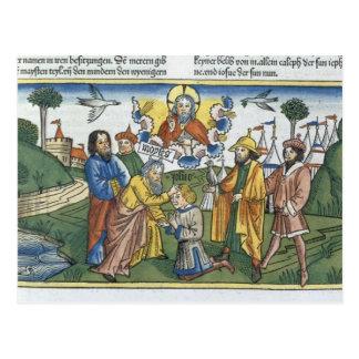 Nr. 27 18-23 Moses legt seine Hand nach Joshua, Postkarte