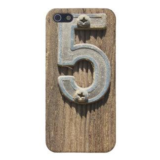 Nr. 5 auf Holz iPhone 5 Hüllen