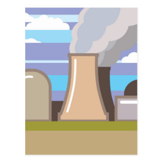 Nukleare Power-Pflanze Postkarte