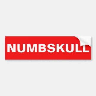 NUMBSKULL AUTOAUFKLEBER