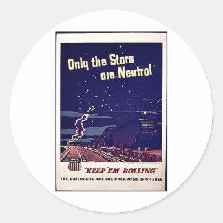 Nur die Sterne sind neutral Runder Aufkleber