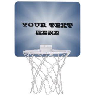 Nur Farbsteigungs-Stern - Blau + Ihr Text Mini Basketball Ring