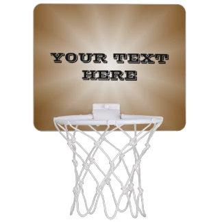 Nur Farbsteigungs-Stern - Braun + Ihr Text Mini Basketball Netz