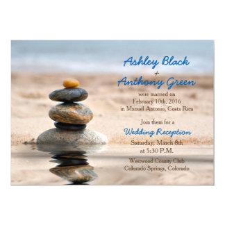 Nur Ozean-Strand-Hochzeit in Urlaubsorts-Empfang Karte